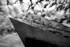The Wedge (Leon Sammartino) Tags: modern denmark copenhagen scandi architecture overexposed sky grey monochrome high pass burnt spaceship