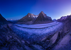 Aletsch Before Sunrise (AirHaake) Tags: glacier gletscher aletsch landscape landscapephotography landscapephoto panorama sunrise twilight stars mountains snow glow atmosphere