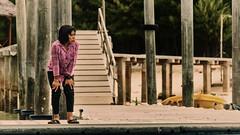 wait.. (Collin Key) Tags: gorontalo saronde sulawesi columns indonesia pier gorontaloutara indonesien id woman