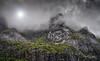 High in the mountains (marko.erman) Tags: lofoten norway nordland landscape mood moody beautiful morning sony rocks mountains flakstadøya paysage dramatic mist misty clouds fog foggy steep