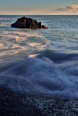 Overflow (Polaris93) Tags: sea sunset rocks seascape waves