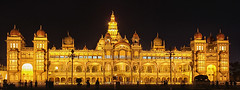 Floodlit Mysore Palace (SivamDesign) Tags: canon eos 550d rebel t2i kiss x4 18135mm zoom kit canonefs18135mmf3556is ambavilas mysore palace night light show floodlight floodlit mysorepalace nik collection plugins filters