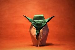 Jedi Master Yoda - Fumiaki Kawahata (pierreyvesgallard) Tags: origami jedi master yoda fumiaki kawahata star wars paper folding kraft