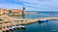 COLLIOURE, Occitanie | FRANCE (Jehanmi) Tags: landscape france boats port mer bateau paysage iphone catalogne occitanie collioure