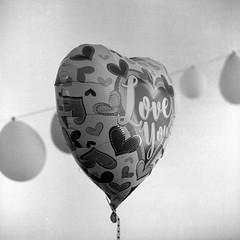 Love you too (Alfred ter Wal) Tags: tmax salyuts d76 film filmisnotdead 6x6 bw blackwhite monochrome mf mediumformat balloon helium