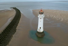 New Brighton Lighthouse (Sam Tait) Tags: new brighton wirral merseyside river mersey lighthouse england britain dji spark drone sea seaside marine tide wave break breaker breakwater perch rock