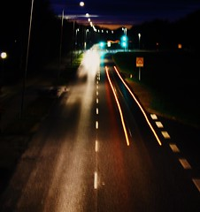 And the light that shines, paints a trace of sadness on the street.. (erlingraahede) Tags: denmark holstebro vsco canon shutterspeed longing missunights nights