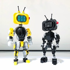 YESman: Model One + Model Two (Alex Kelley) Tags: actionfigure mech mecha design robot bot toy moc lego