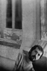 Reflection From a Dream (annie.cure) Tags: atmosphere strange dark effect reflection texture mysterious porto monochrome portugal noise mood portrait people details film friend blackandwhite blur negative man