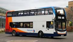 Stagecoach North West 11157 YX68UXH Carlisle Depots new kid on the block departs from Hexham Bus Station with the 09.33 685 service from Newcastle to Carlisle. (Gobbiner) Tags: e400mmc hexham 685 stagecoachnorthwest adl 11157 newcastle cumbrianorthlancs enviro yx68uxh carlisle