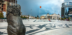 Macedonia Square - Skopje, Macedonia (Russell Scott Images) Tags: macedoniasquare statue monument warrioronahorse alexanderthegreat fountain bronze skopje macedonia lion