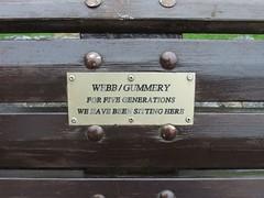 Five Generations (Living in Dorset) Tags: memorialbench memorial bench torquay devon england uk gb webb gummery