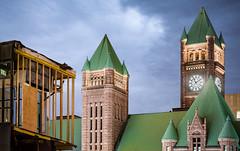 City Hall, Minneapolis, MN (Chad Davis.) Tags: cityhall cityscape clock clocktower demolition downtownminneapolis lenstagger longexposure minneapoliscityhall minnesota tower