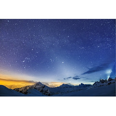 Stardust (Robyn Hooz) Tags: veneto dolomiti giau passo stelle costellazioni constellation neve inquinamentoluminoso lightpollution light pollution sky notte night