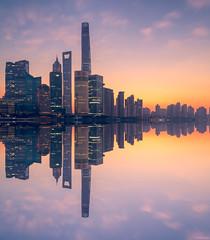 Warming Up The Bund (ttarpd) Tags: republic china republicofchina world travel shanghai city cityscape huangpu river bund thebund sunrise dawn daybreak sun rise reflection