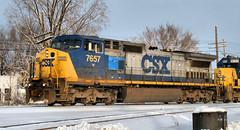 CSX7657-C40-8W_Plymouth-MI_12-16-2005a (Count_Strad) Tags: railroad track tracks emd ge gp382 c408w es44dc gp9r c449w sd40t2 plymouth melvindale northville mi michigan csx