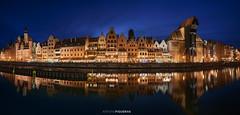 Gdansk, panorama (Antoni Figueras) Tags: poland polska gdansk europe bluehour panorama night oldtown sonya7rii reflections antonifigueras