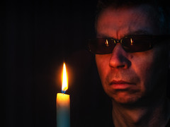 Candle glasses (glukorizon) Tags: 52weeksof2018 bril candle candlelightportrait colourchange flame glasses head hoofd kaars kleurverandering licht light luc reflectie reflection selfie spiegeling sunglasses vlam zelfportret zonnebril