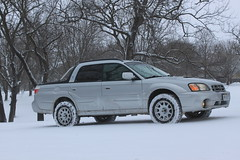 IMG_2852 (86Reverend) Tags: 2006 subaru baja turbo lifted anderson design fabrication adf method race wheels 502 bf goodrich ko2 winter snow