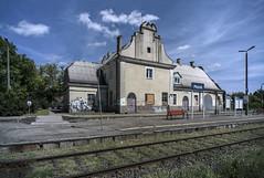 Old railway station in Płońsk (Adam Nowak) Tags: stacja ruina kolej railway