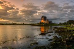 Celtic Sunset (toniyoo) Tags: landscape landscapephotography ireland celtic seascape sea reflection reflejo galwaybay sunset cloudysky cloudy clouds castle