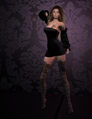 insanya Tube Dress in Black 2 (Becky Kenaan) Tags: firestorm secondlife insanya tatyana tatyanaultsch tubedress