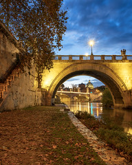 The Vatican View (JH Images.co.uk) Tags: rome italy bridge vatican sky clouds night hdr dri lamp tree river reflection architecture leaves