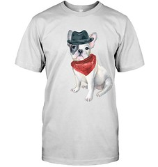 Frenchie+French+Bulldog+Gangster+Hat+Bandana+Red+Dogs+In+Clothes-CM_82P1K00 (Pugdog Love) Tags: pug pugdog pugs dog dogs