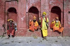Cultural Appropriation  (Film) (Harald Philipp) Tags: nepal nikon f6 portra film analog shaman temple kathmandu hindu hindi sadhu 35mm holyman travel tourist swastika tourism shoes grain exotic destination priest