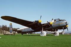 G-BCOH Avro Lancaster X AS Strathallan 08-08-76 (MarkP51) Tags: gbcoh avro lancaster x as lancasterxas preserved strathallan museum scotland airliner aircraft airplane plane image markp51 nikon kodachromeii slide film scan sunshine sunny yashica tlelectrox