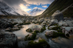 Aoraki (Federico Monetti Photography) Tags: aoraki mtcook nationalpark valley river mountain rocks landscape nature hookervalley newzealand unesco worldheritage travel peak