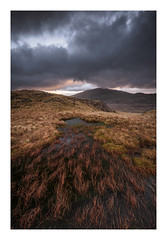 Snowdonia - January 14th (Edd Allen) Tags: mountain northwales wales clouds dinorwig landscape mountainscape atmosphere atmospheric sunrise nikond810 nikkor70200mm serene bucolic uk dinorwic pano panorama lake reflection sunset penypass