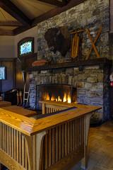 Deer Lodge inside DSCF4275 (Alleung555) Tags: park national jasper alberta louise lake hotel lodge deer fire place