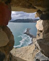 Lerici (laclairvoyance) Tags: lerici liguria italy window sea landscape places blue
