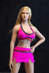 Fire Girl Cheerleader Outfit Photo Review (edwicks_toybox) Tags: 16scale firegirl tbleague blonde cheerleader femaleactionfigure haltertop miniskirt phicen seamlessbody sneakers