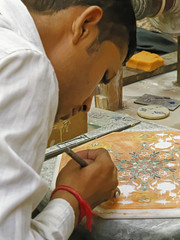 _MG_3144_DxO (carrolldeweese) Tags: agra india marble inlay worker