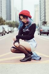 (Memórias Fotográficas) Tags: street city girl woman model alternative picture photograph photography sp sao paulo paulista avenue hair hairstyle blue pink cute 50mm tumblr inspiration vsco vscocam cam