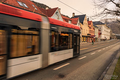 """""""A walk in the city"""" [Explored] (Terje Helberg Photography) Tags: building buildings bybanen citylife cityscape house houses outdoor outside people street streetphotography streetlife sunlight sunset trails train tram urban"""
