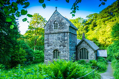 Minster Church Boscastle lies overgrown deep in the woods. (Geordie_Snapper) Tags: canon5d4 canon2470mm cornwall holidayboscastle june landscape minsterchurch summer sunny