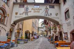 Auracher Löchl in Kufstein, Tyrol, Austria (UweBKK (α 77 on )) Tags: österreich auracher löchl historic buildings architecture alley hotel shops restaurant kufstein tyrol tirol austria europe europa sony alpha 77 slt dslr