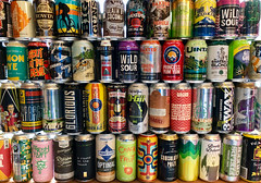 Beer Wall (ahockley) Tags: andersonvalley atlasbrewing beer beercan bronxbrewery can denverbeer destihlbrewery eviltwin fearlessbrewing fortgeorge fullsail greatdivide matchlessbrewing odd13 oskarblues silvercitybrewery unitas urbanchestnut wildcardbrewing