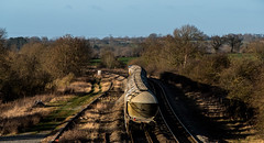 Rolling round the bends (Peter Leigh50) Tags: gbrf shed ketton cement wistow road bridge railway railroad rail rural train trees track countryside fujifilm fuji freight xt2 tank shadows sunlight
