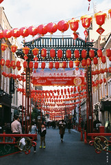 London China Town (Phoman705) Tags: people new year christmas newyear 2018 2019 china chinatown london red lanterns decorations festive film photography filmology moon festival olympus om1 fuji200 fuji warm chinese