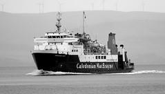 Calmac ferry M/V Hebridean Isles (Dave Russell (1.3 million views thanks)) Tags: ardrossanbrodick mainland background coast ayrshire north hebridean isles ferry ferries boat ship vessel transport passenger vehicle calmac caledonian macbrayne firth clyde scotland island arran brodick ardrossan comute commuter water sea ocean marine maritime view scene outdoor canon eos eos7d 7d afloat floating underway arrival arriving bw black white mono monochrome motor mv