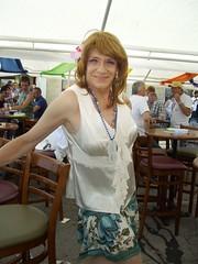 Laurette, Party Animal! (Laurette Victoria) Tags: woman blouse brunette laurette pridefest milwaukee