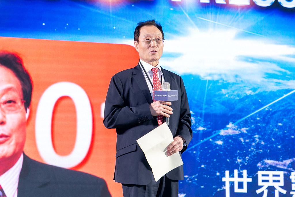 世界數字經濟組織主席Jack Xiao及副主席徐光勛為「陽光區塊鏈Maxonrow全球啟動記者會」站台。