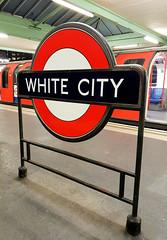 White City (R~P~M) Tags: train railway sign roundel enamel vitreousenamel whitecity centralline londonunderground england uk unitedkingdom greatbritain
