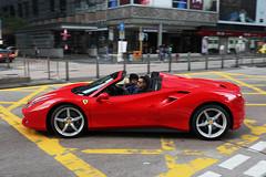 Ferrari, 488 GTB Spider, Tsim Sha Tsui, Hong Kong (Daryl Chapman Photography) Tags: tm ferrari 488 488gtb italian pan panning hongkong china sar tst tsimshatsui middleroad car cars carspotting carphotography canon 5d mkiv 35 f14 auto autos automobile automobiles