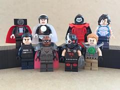DC Figs 166: My desk is a wreck so here is temporary location (HMD BrickCustoms) Tags: lego custom dc minifigures batman superman teen titans