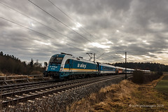 """183 004 am """"neuen"""" ALEX-Nord (ice91prinzeugen) Tags: 183 taurus alex netinera bahnland bayern alx"""